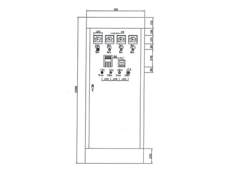 BQJ-3型恒壓變頻組合變頻控制柜布置圖(節能產品)