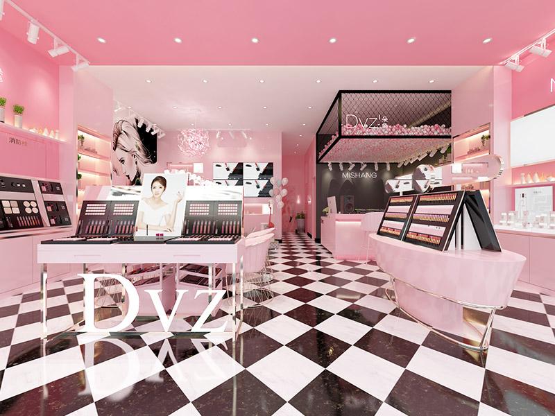 廣州朵色彩妝店鋪裝修設計