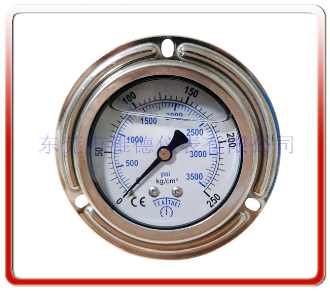 60MM軸向帶邊耐震充油表(臺灣款式法蘭)