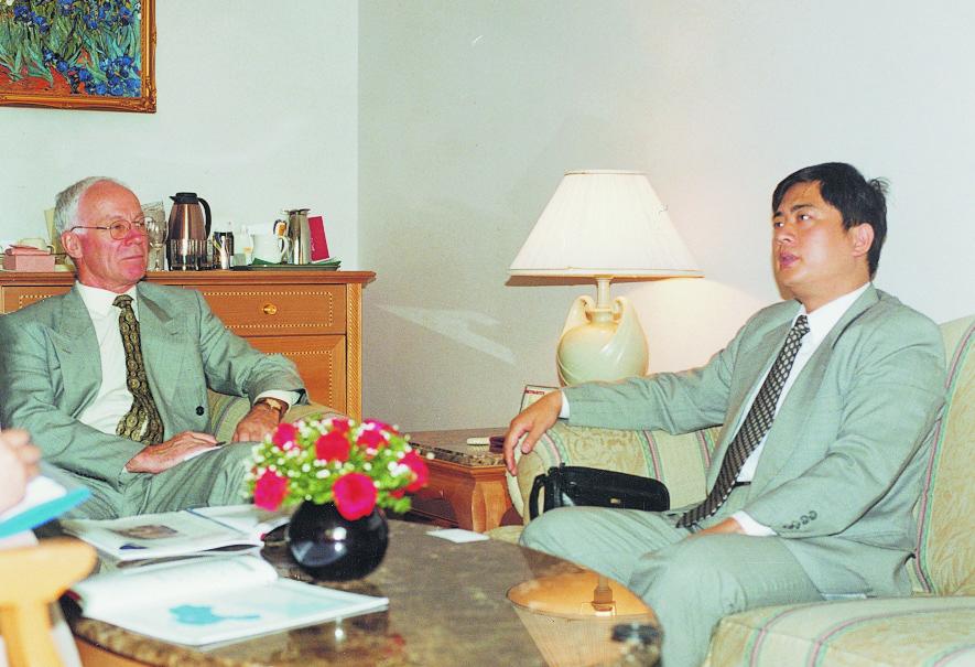 陳斌總裁與新西蘭大使親切會晤