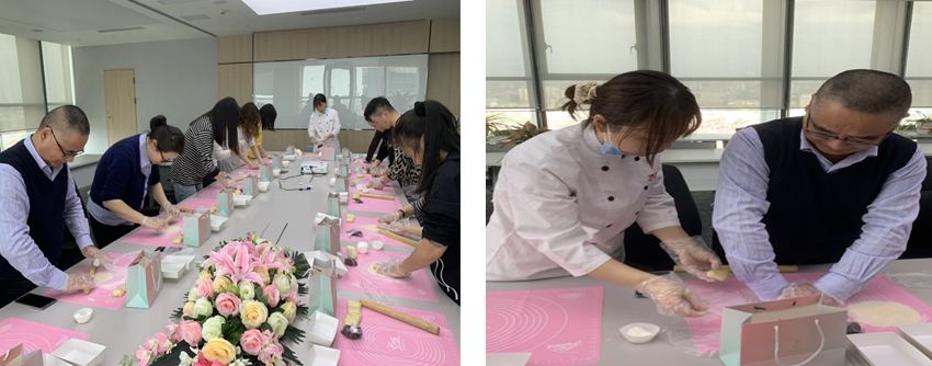 """上海环保集团工会组织开展 """"公益乐学""""烘焙活动"""
