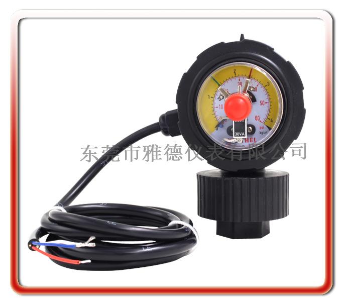 PP全塑一體成型隔膜式電接點壓力表