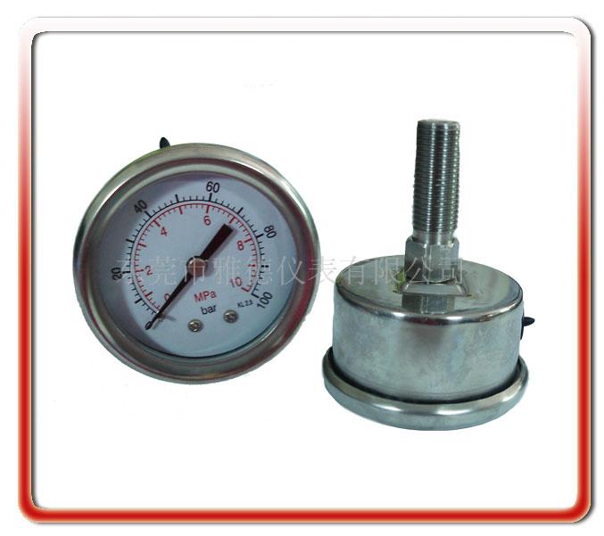 50MM軸向全鋼壓力表
