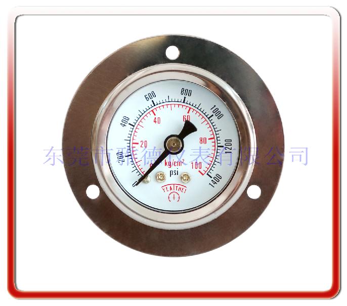 40MM軸向邊耐震油壓表