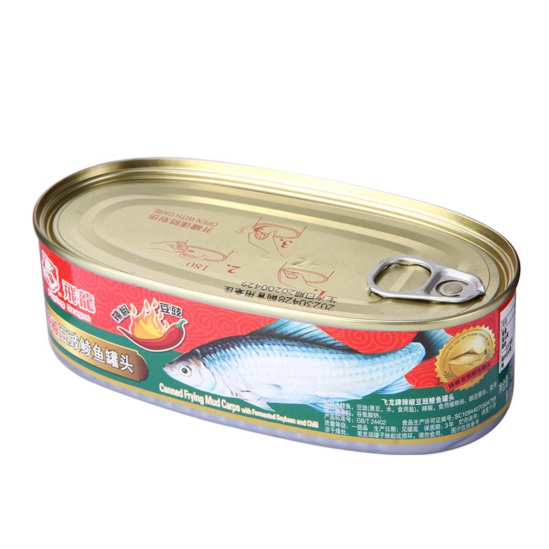 飞龙牌辣椒豆豉鲮鱼罐头184克