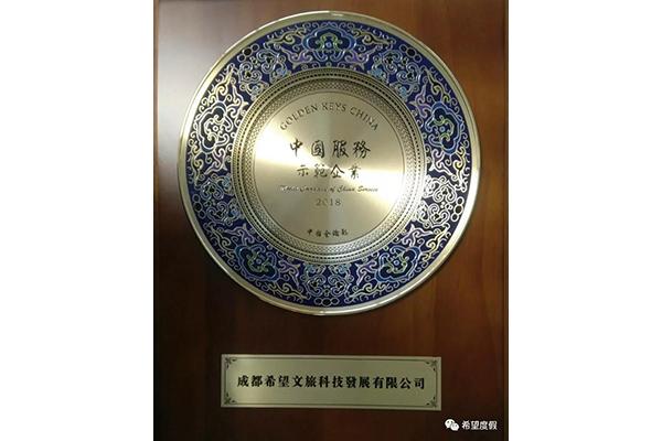 """""""中國服務示范企業""""獎"""