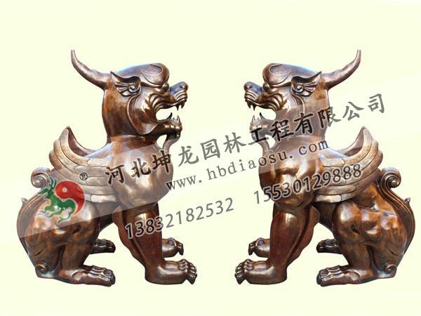 動物銅雕020