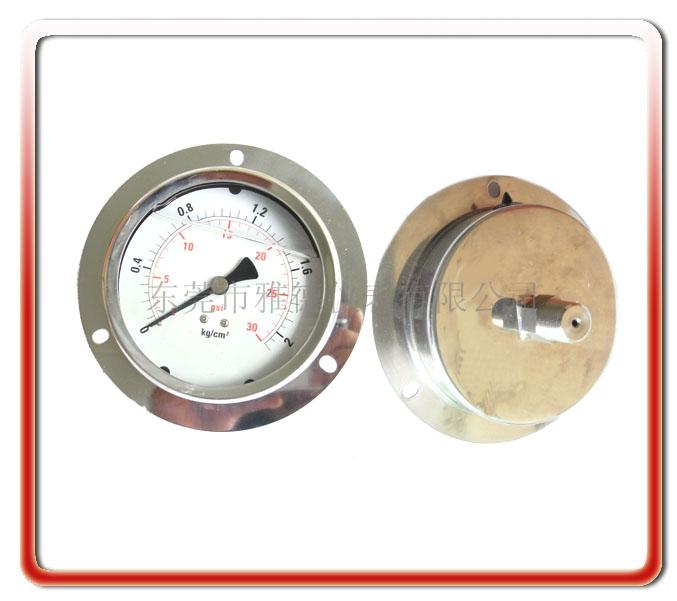 100MM軸向全鋼壓力表