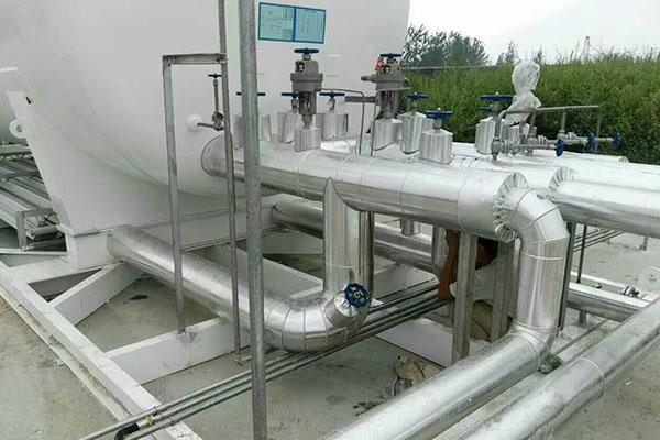 聊城天柱生物科技有限公司廠區LNG氣化站管道保冷