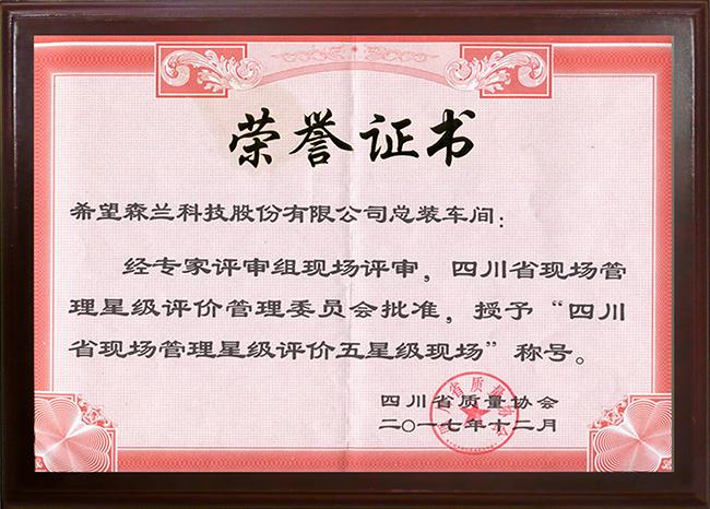四川省現場管理星級評價五星級現場