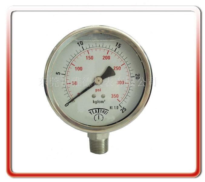 60MM徑向全鋼油表