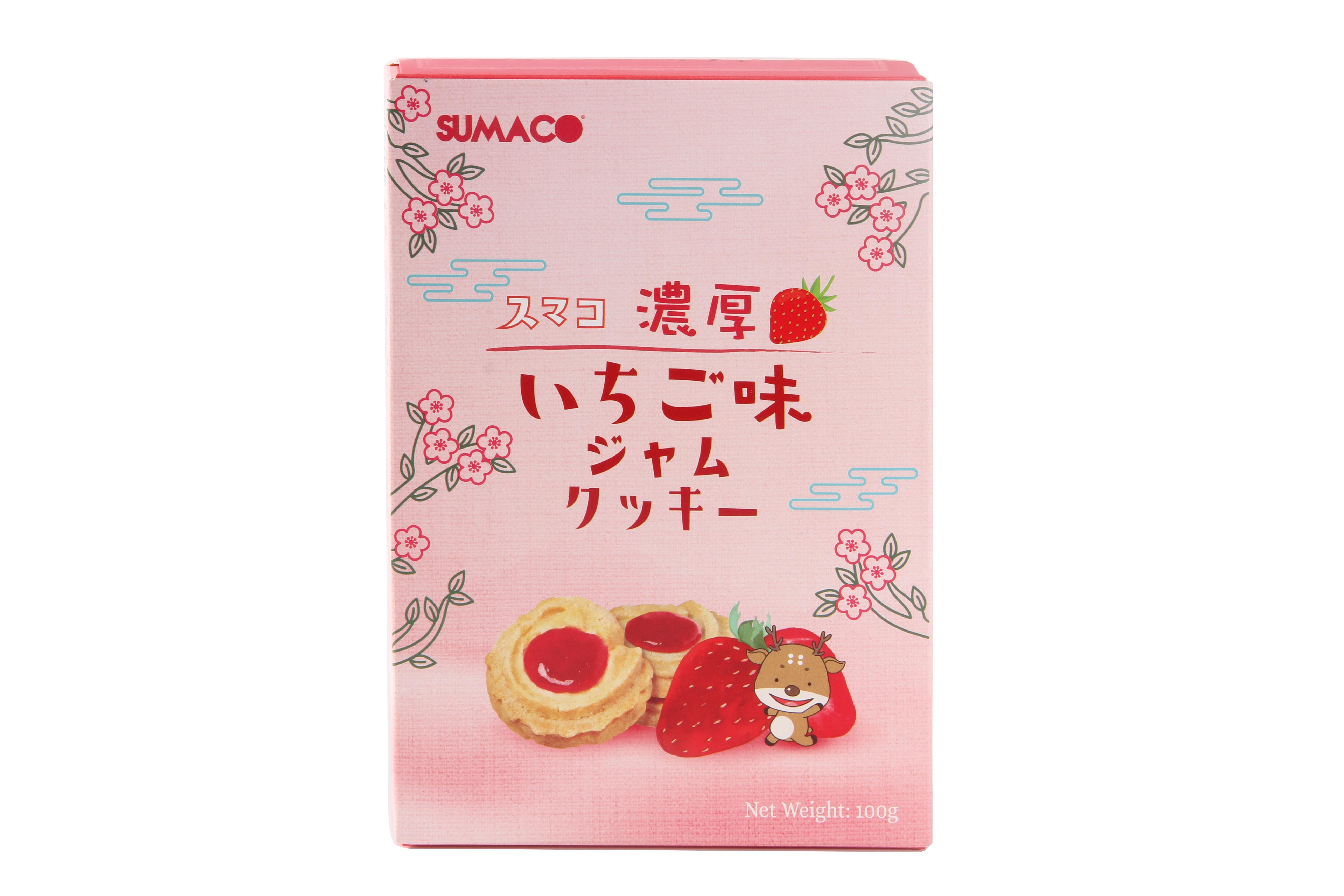 素玛哥曲奇饼干(草莓果酱风味)100g