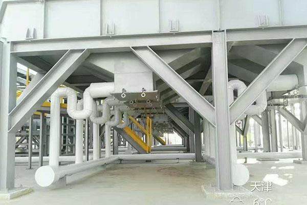 三星電機廠區屋面廢氣處理設備管道保冷