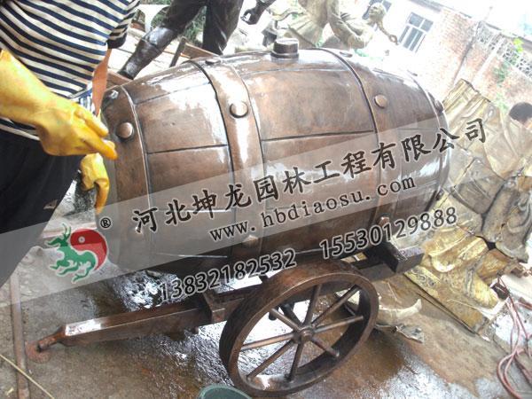 銅雕塑制作施工現場