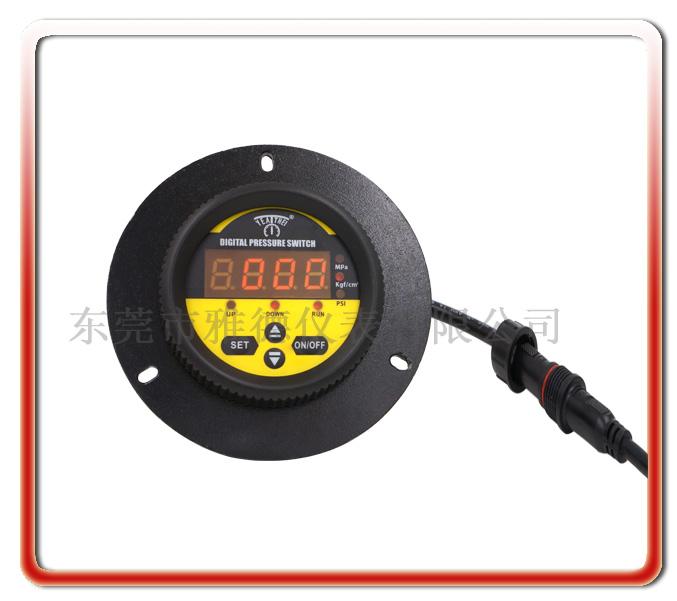 軸向帶邊PP隔膜式數顯電接點壓力表