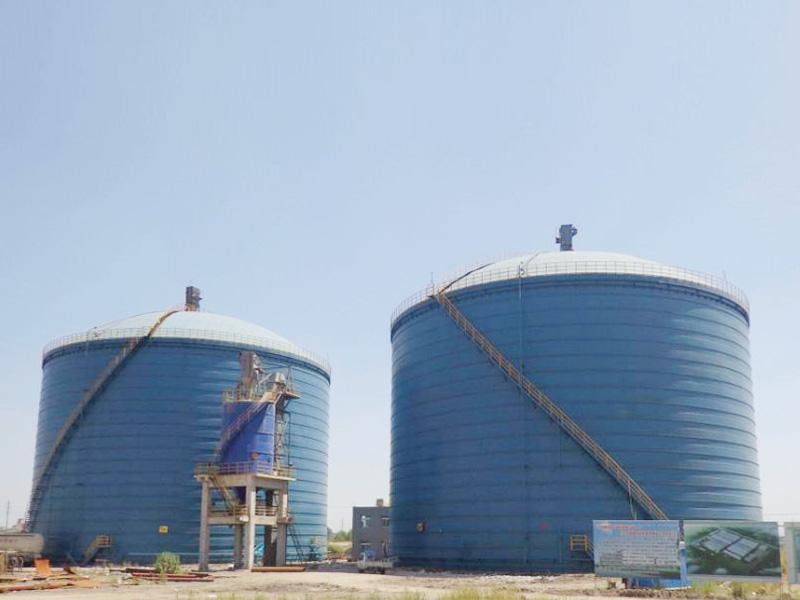 鞍鋼集團2座5萬立方粉煤灰鋼板庫工程