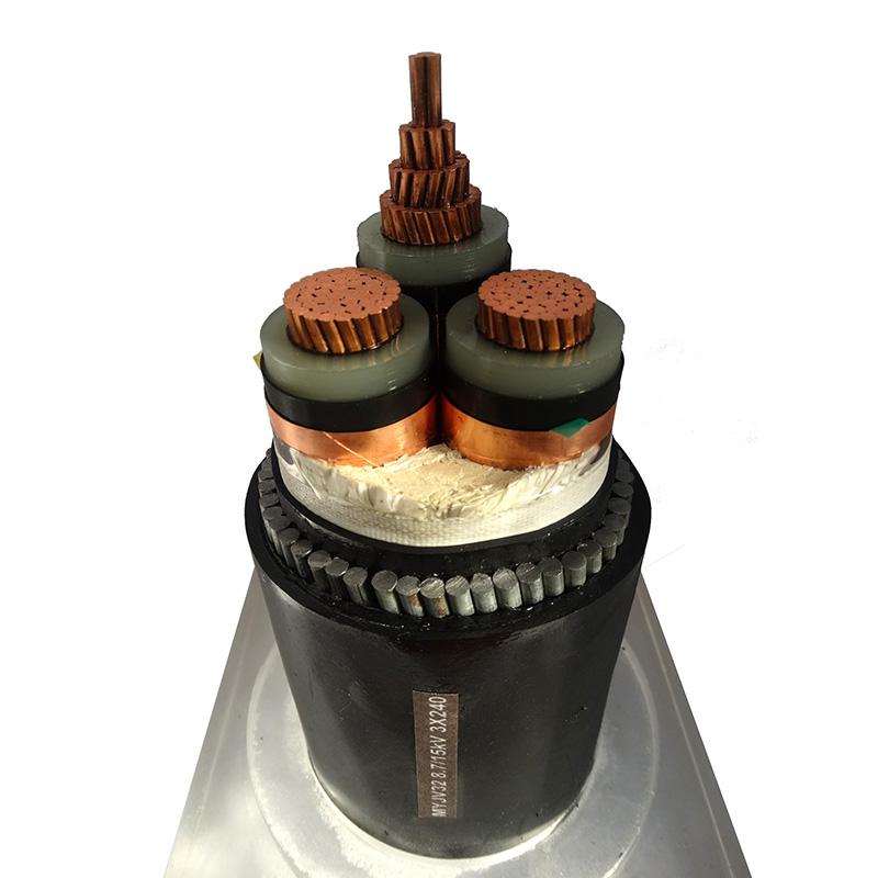 10KV電力電纜MYJV328.7/15KV 3X240