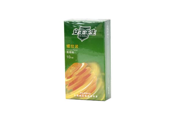 避孕套(安全先生)螺纹香橙味