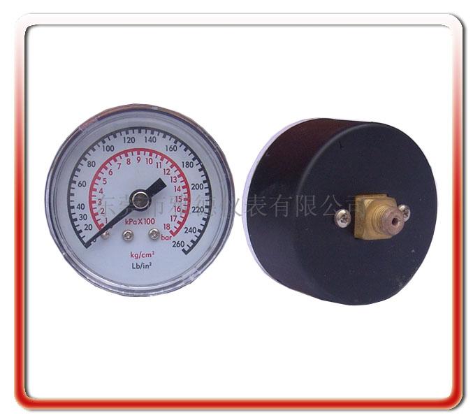 50MM軸向氣泵壓力表