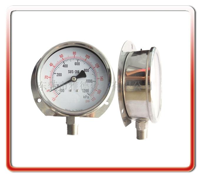 100MM徑向帶后邊全鋼壓力表