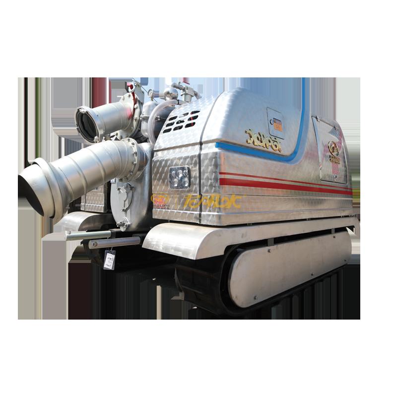 """""""龙吸水""""500自吸式小履带全地形远程控制移动泵站"""