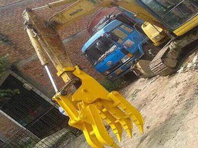 機械抓木器