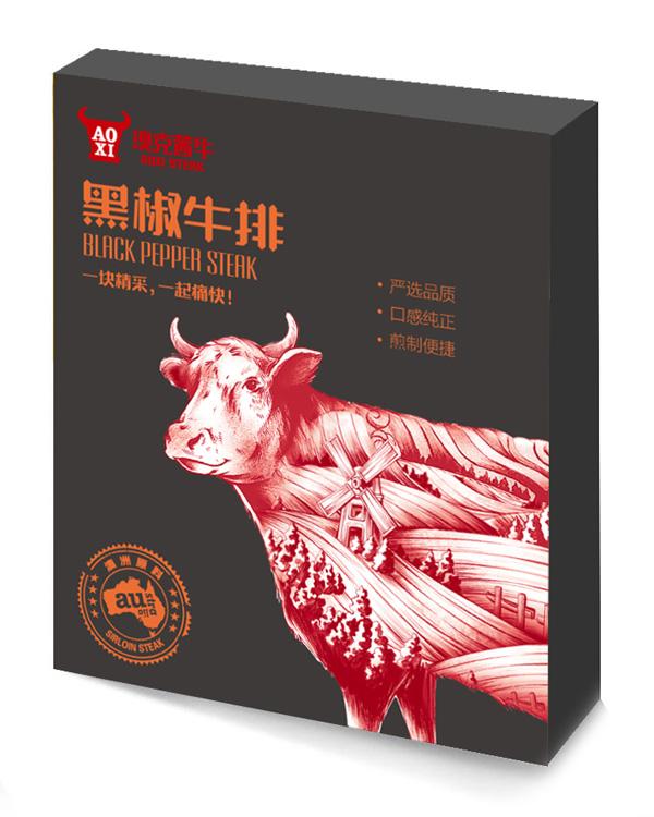 黑椒牛排—盒裝