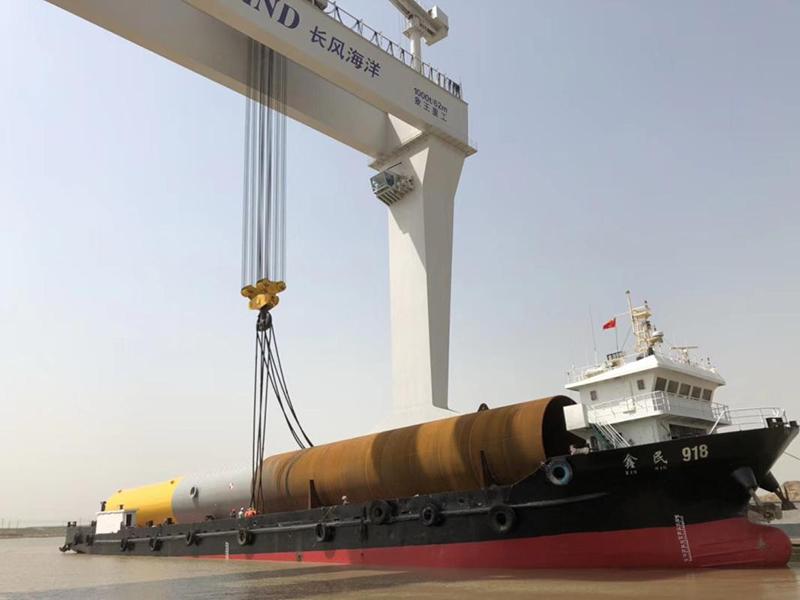 三峽新能源江蘇大豐300MW海上風電項目單樁