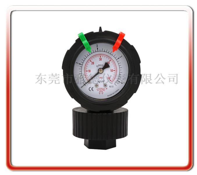 新款單面PP一體成型隔膜壓力表