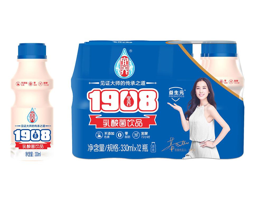 宜養經典1908原味乳酸菌330ml*12瓶