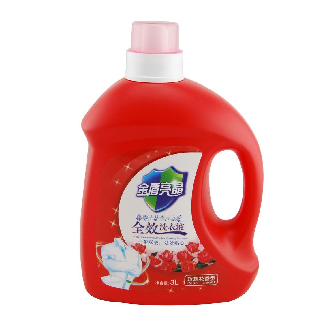 金盾亮晶 洗衣液3L(全效/玫瑰花香)