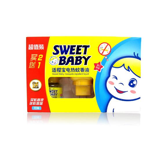 適櫻寶-嬰兒電熱蚊香液促銷裝(2瓶送器)