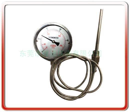 100MM徑向無邊全鋼壓力式溫度計