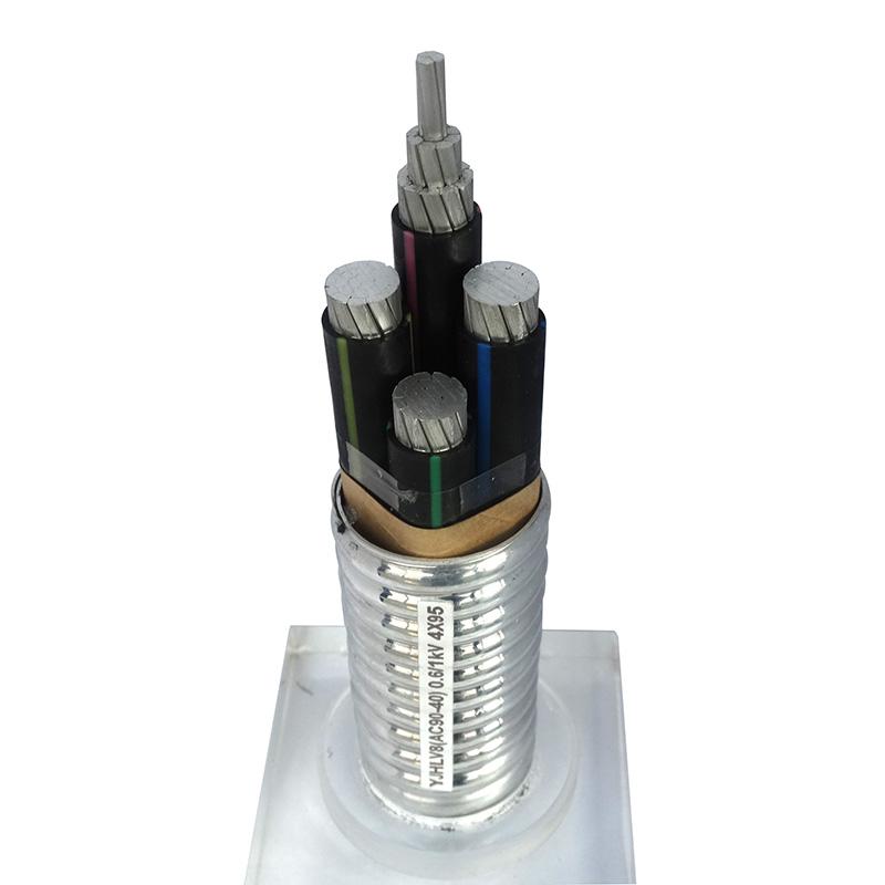 鋁合金電纜YJHLV8(AC90-40) 0.6/1kV 4X95