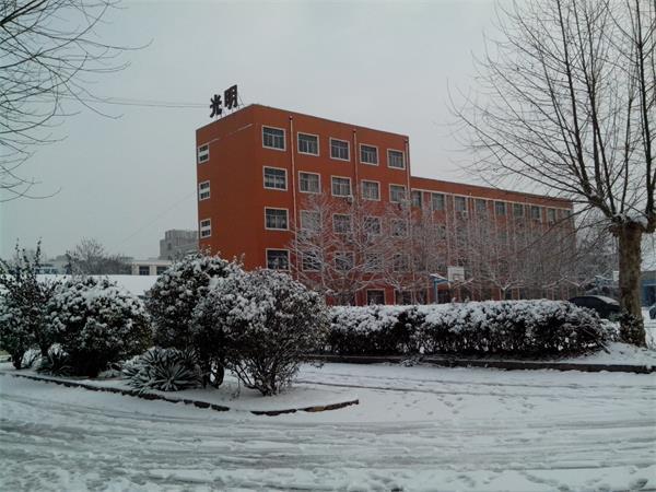 威肯廠區雪景