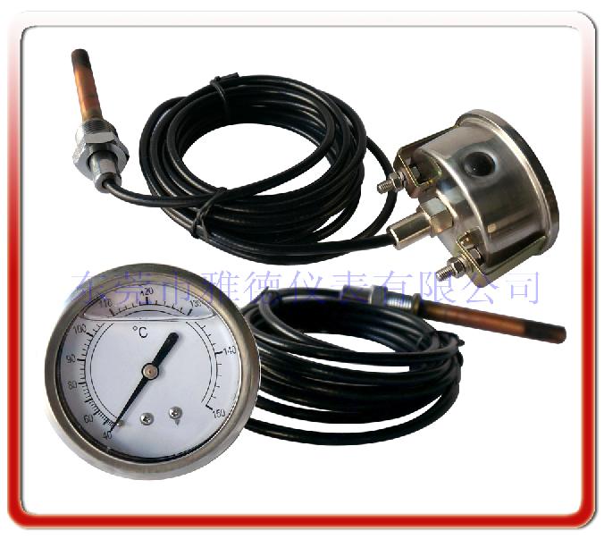 60MM軸向帶支架帶軟管壓力式溫度計