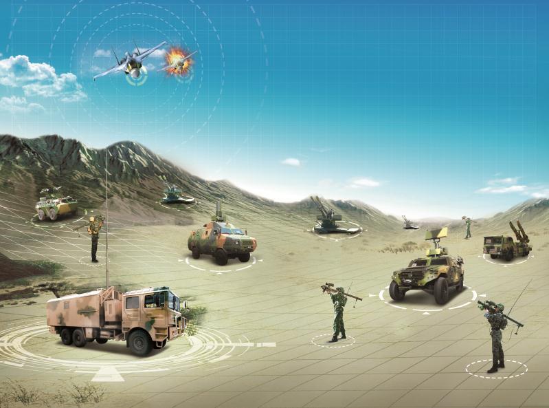 防空作戰指揮系統組網圖