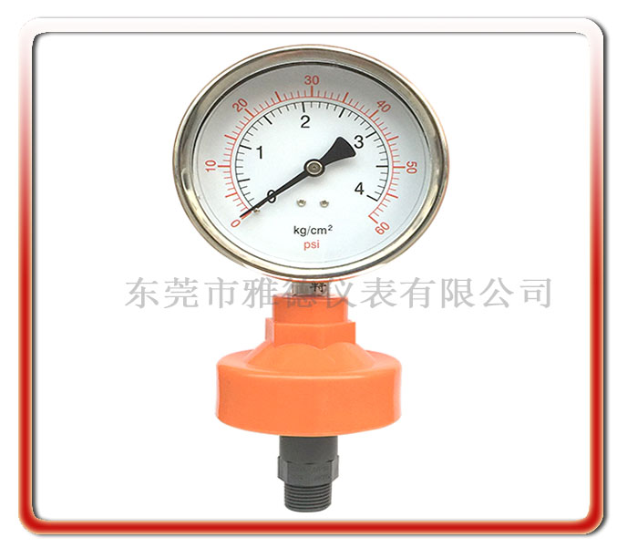 外螺紋PP隔膜式壓力表