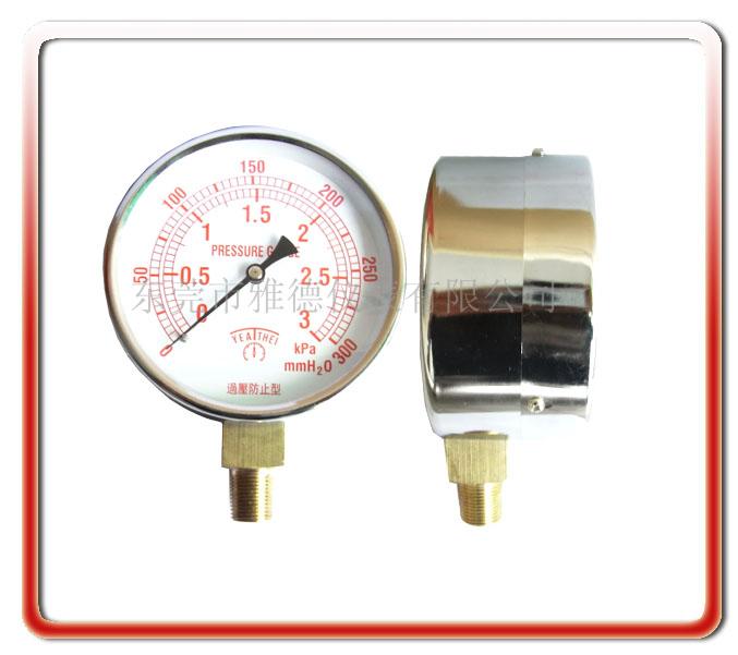 100MM徑向不銹鋼殼微壓表