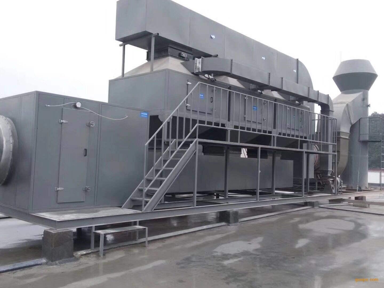 45000M3風量低溫催化燃燒安裝現場