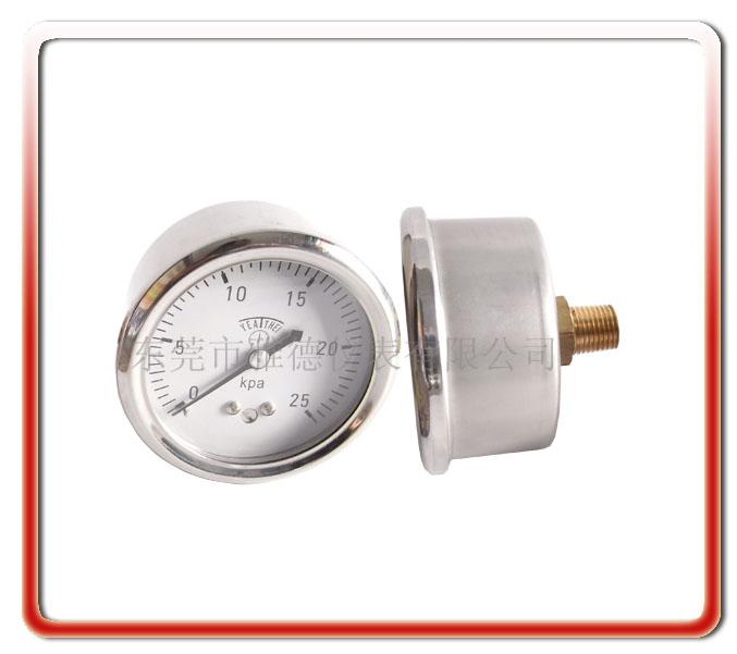 60MM軸向微壓表