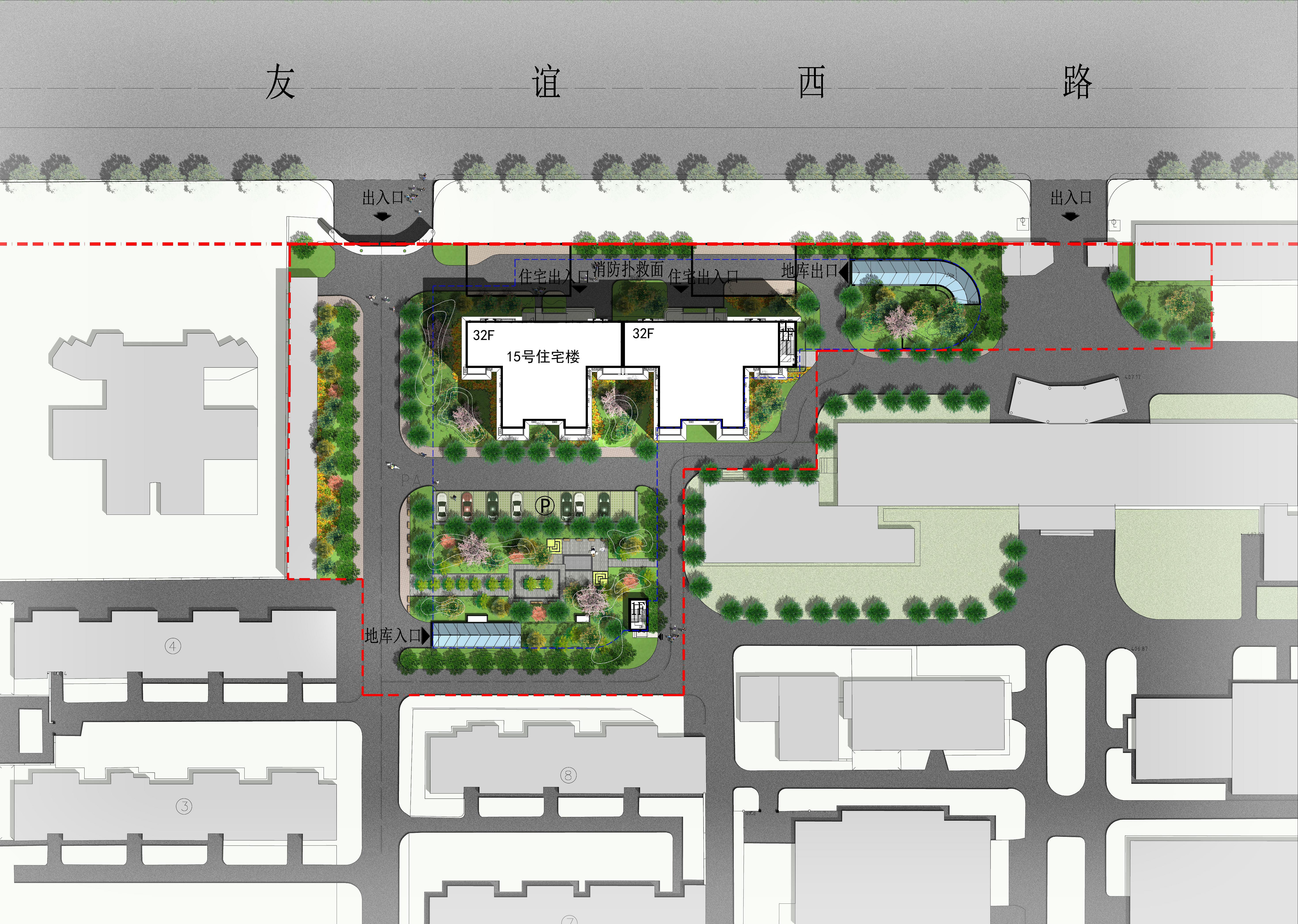 西北工業大學友誼校區南院15#樓景觀設計