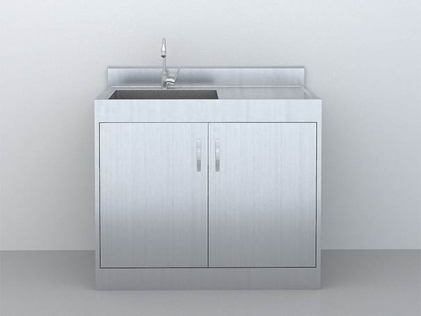 SUS-304不銹鋼-污洗柜1m