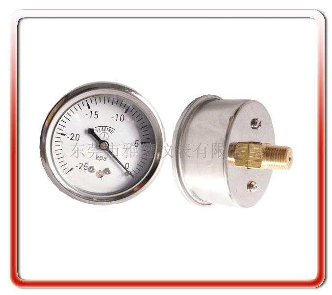 60MM軸向負壓微壓表