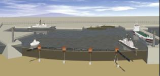 氣囊式水面防護攔阻系統