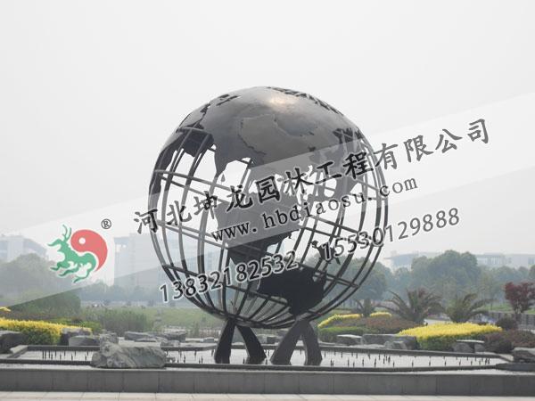 地球儀不銹鋼雕塑017
