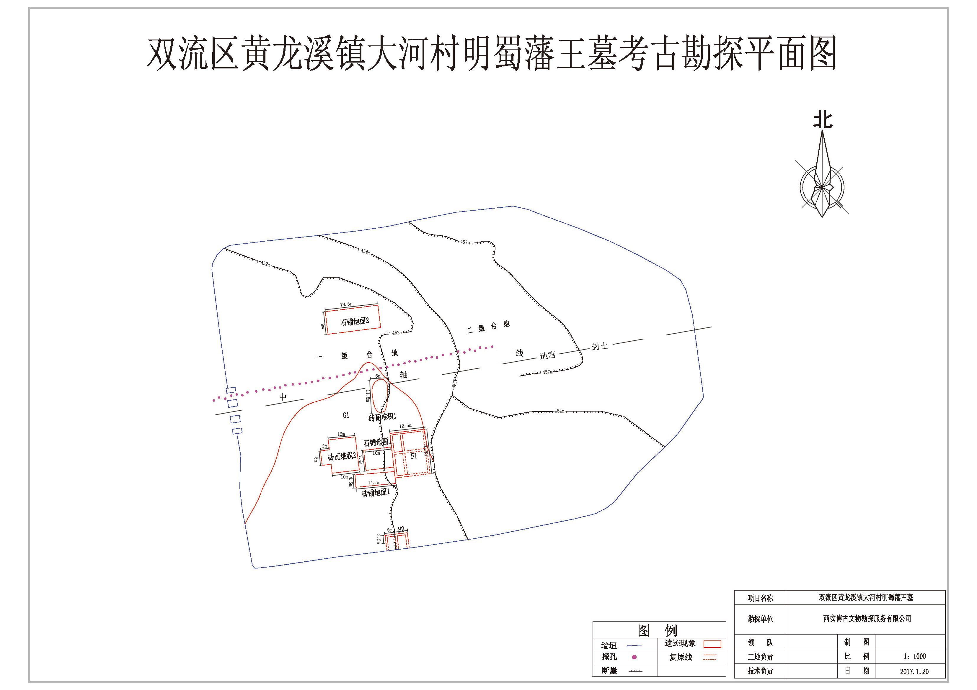 成都雙流區黃龍溪鎮明蜀蕃王墓考古勘探項目
