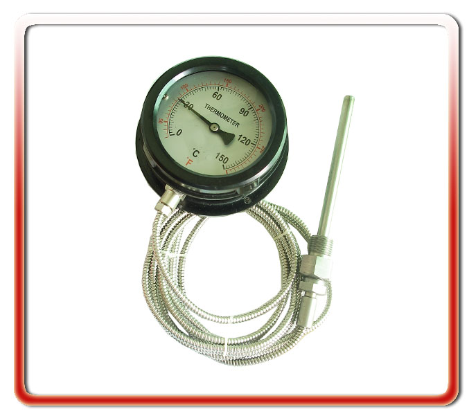 100MM徑向膠殼壓力式溫度計