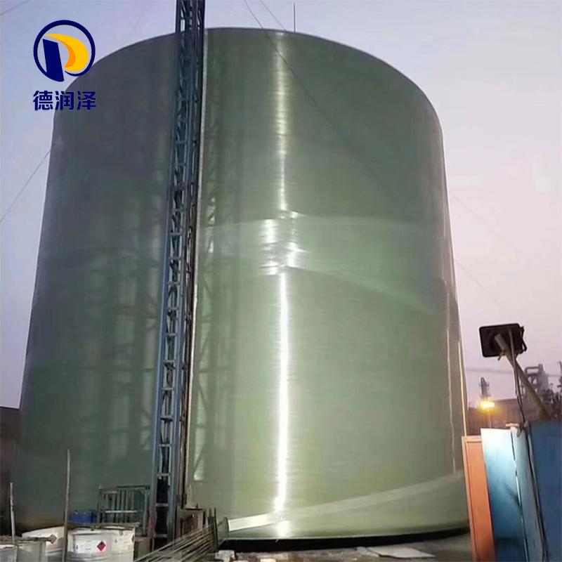 現場大型玻璃鋼儲罐生產線