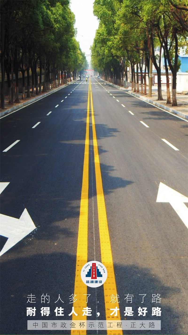 中國市政金杯示范工程·正大路